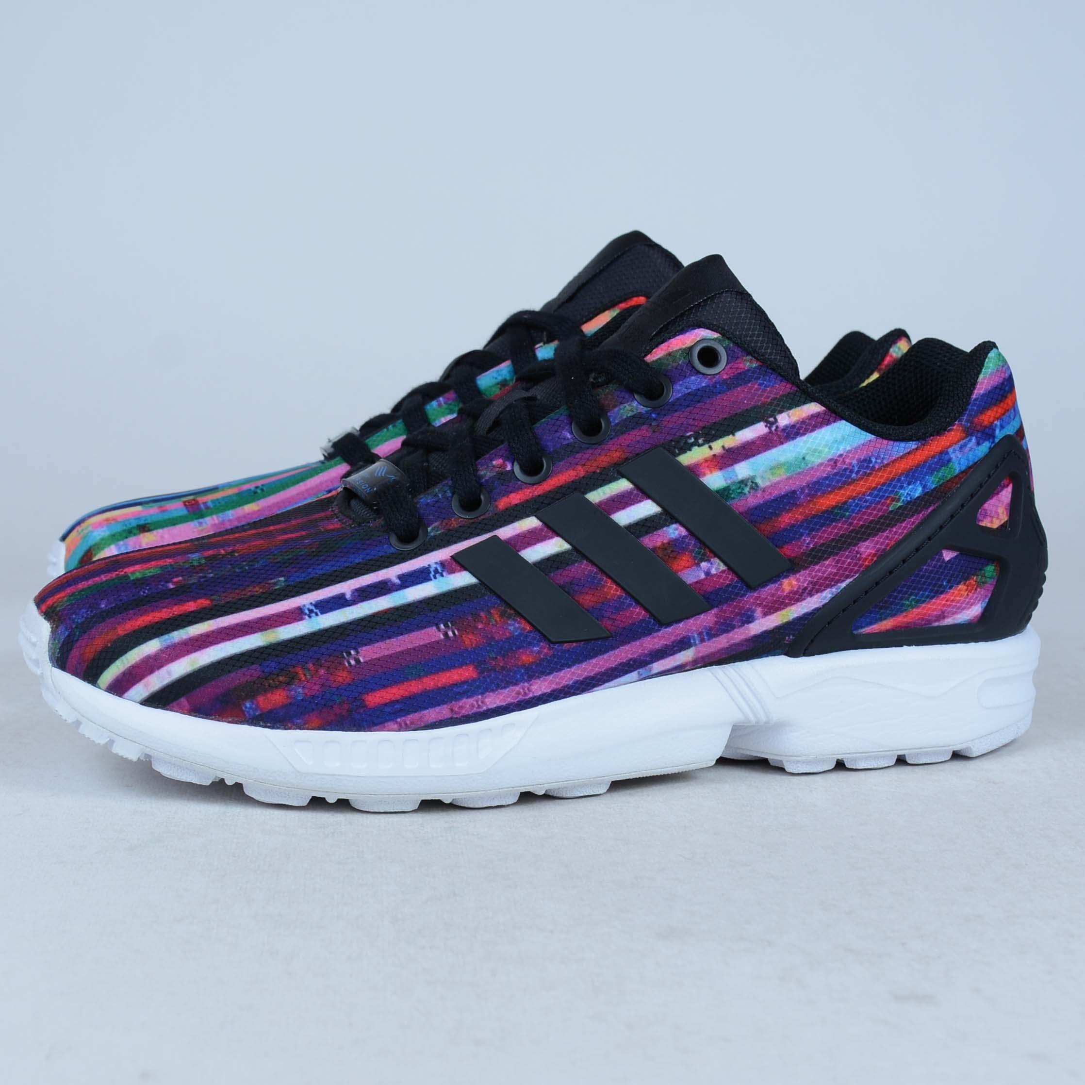 7afcb1fa0 ... real adidas zx flux rainbow multi color size 7.5 running s76504 defect  display ebay 92edb 51461 ...
