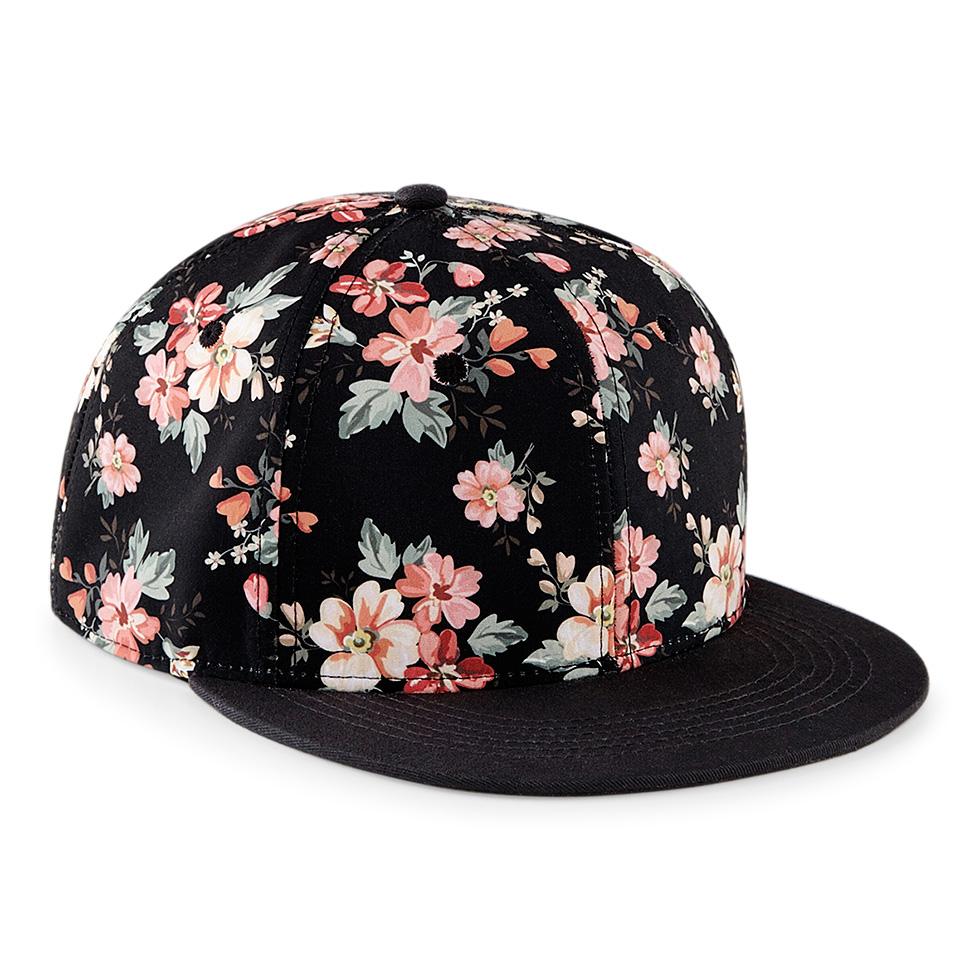 Baseball Cap Flat Peak Snapback Hat Rapper Hip Hop Pattern Floral Mens  Womens 2f50e8143ed