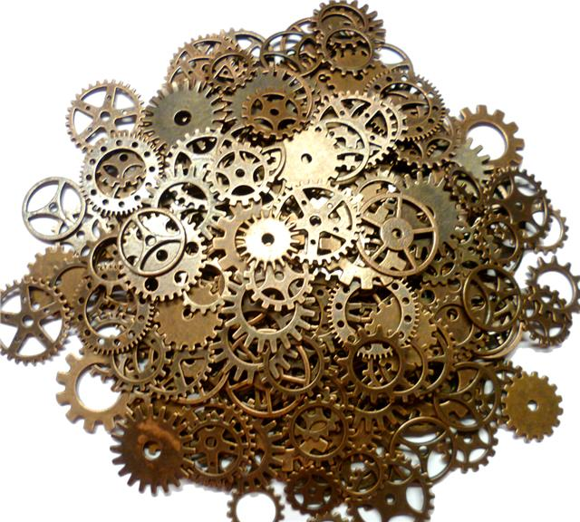 Steampunk Watch Parts Lot Vintage Gears Wheels Cogs