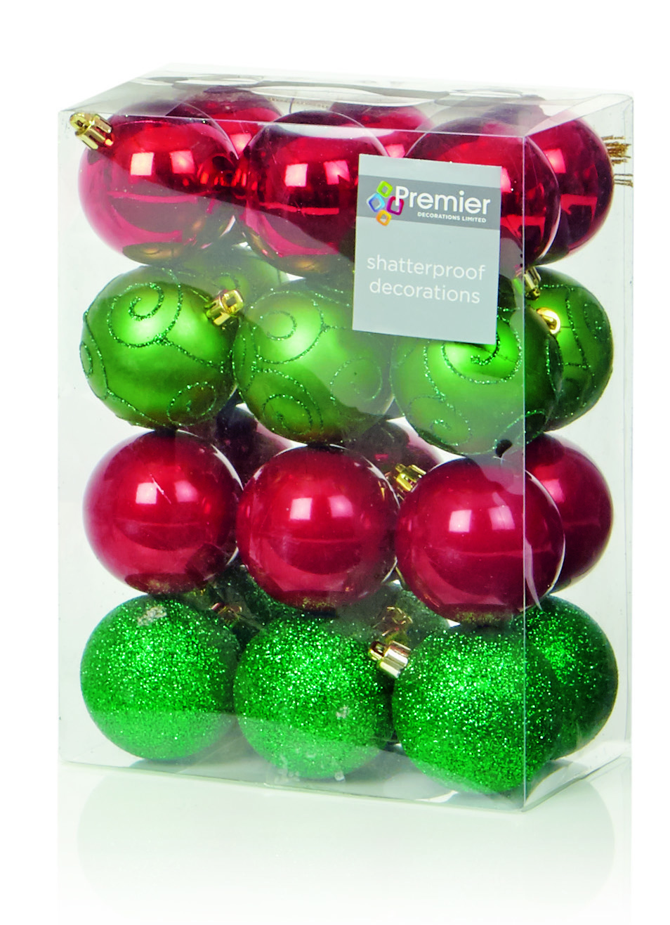 green baubles christmas decorations