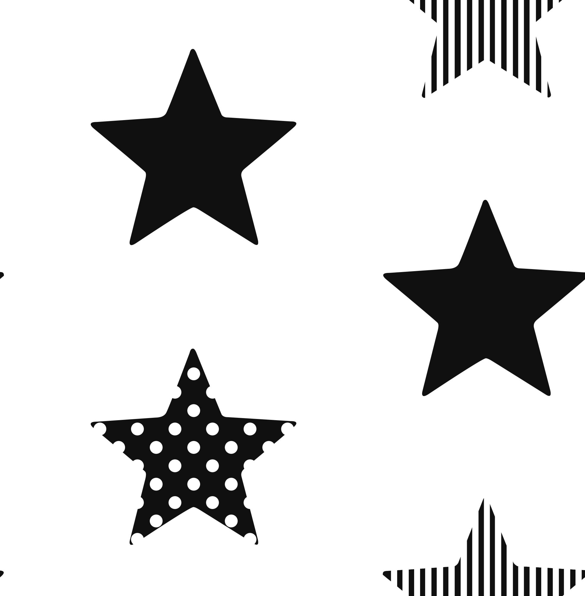 Kids stars or stripes wallpaper choose colour style