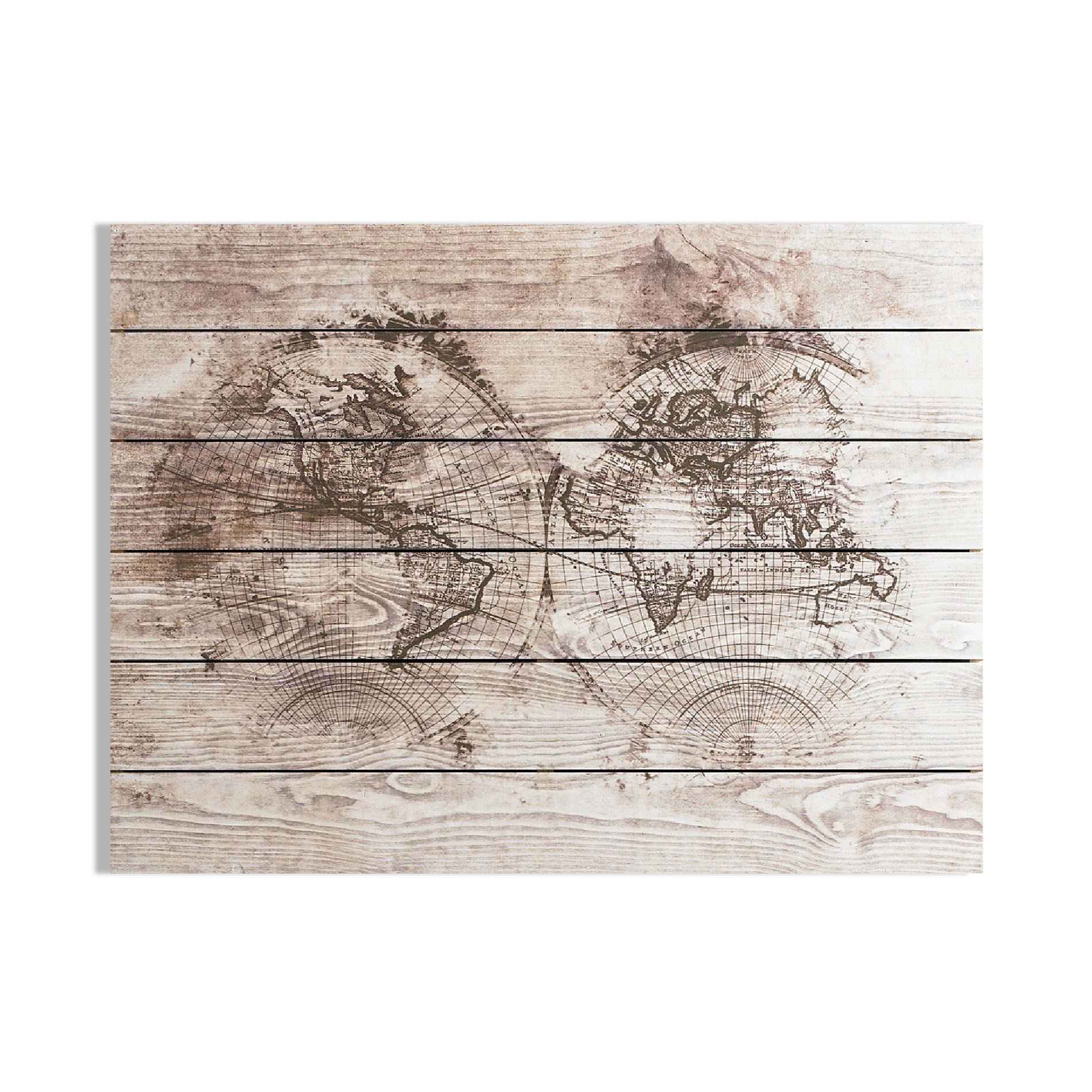 Art For The Home Wood World Map Print On Wood 5011583372311 Ebay