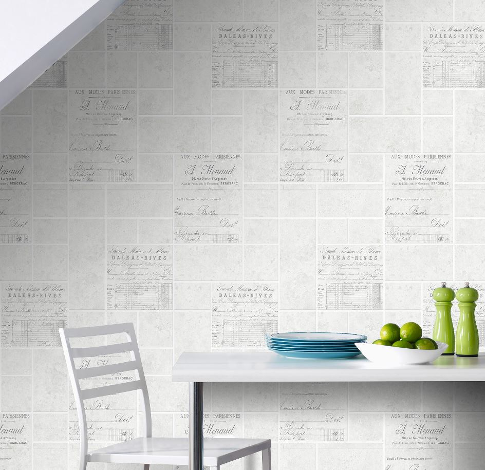 Details About Superfresco Easy Parisienne Paste The Wall Tile Effect Grey Wallpaper Was 14