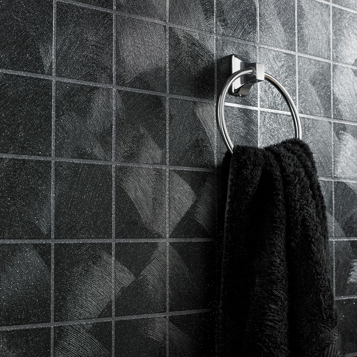 Details About Superfresco Easy Paste The Wall Twilight Tile Effect Black Wallpaper