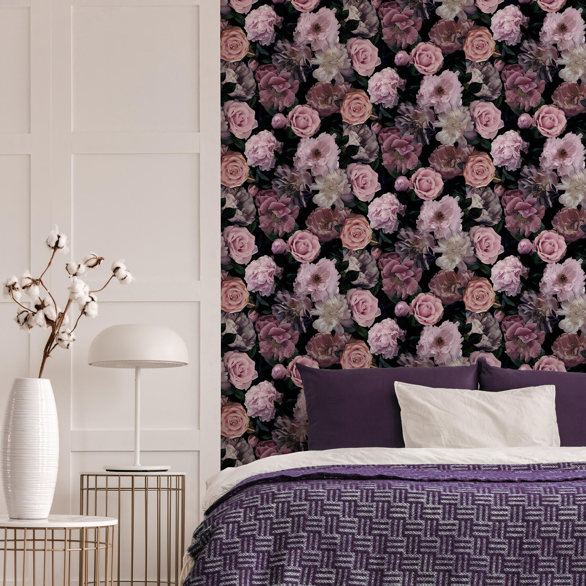 Fresco Pink Pandora Drama Floral Wallpaper | eBay