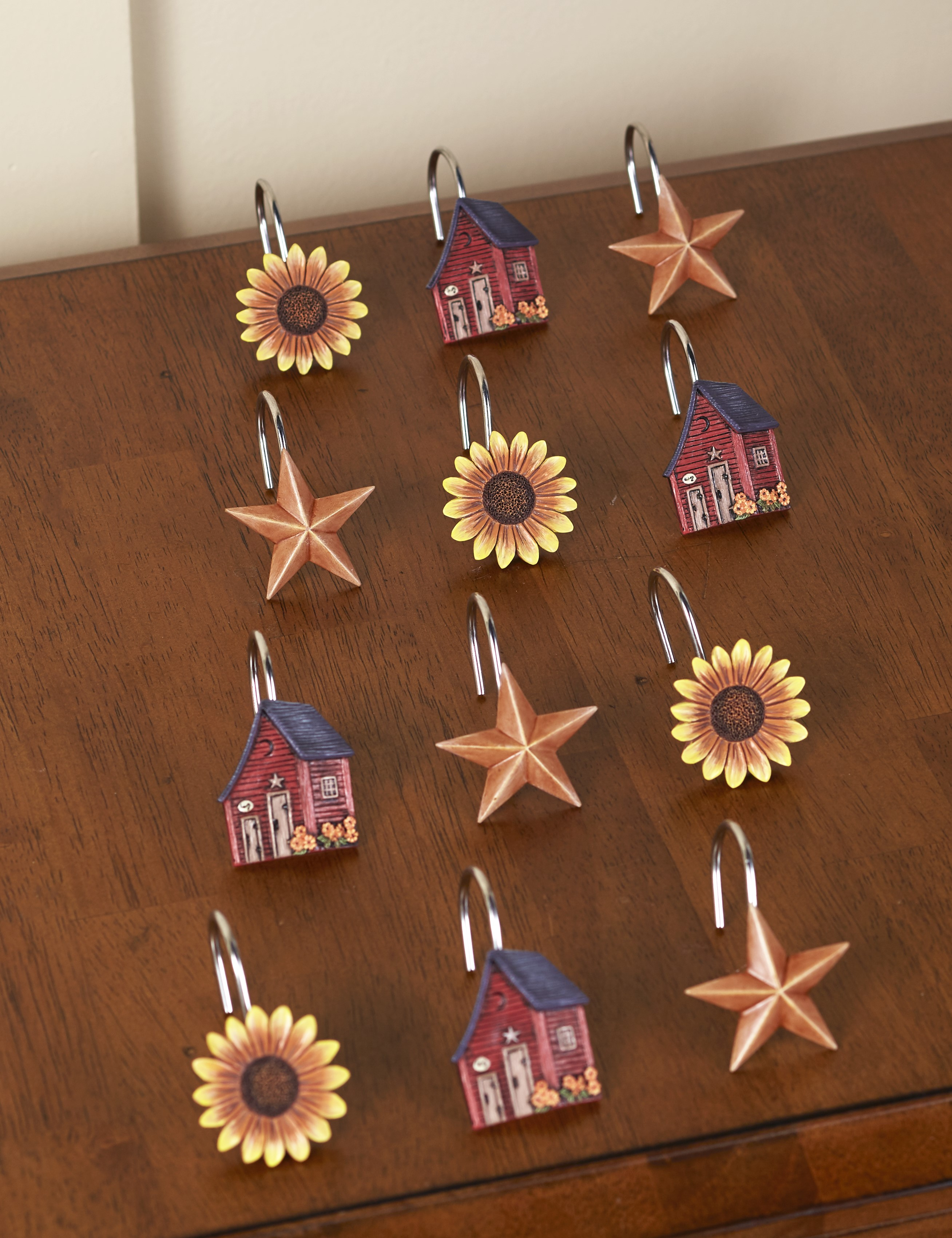 Outhouse Shower Curtain Hooks - Americana Bathroom Accents ...