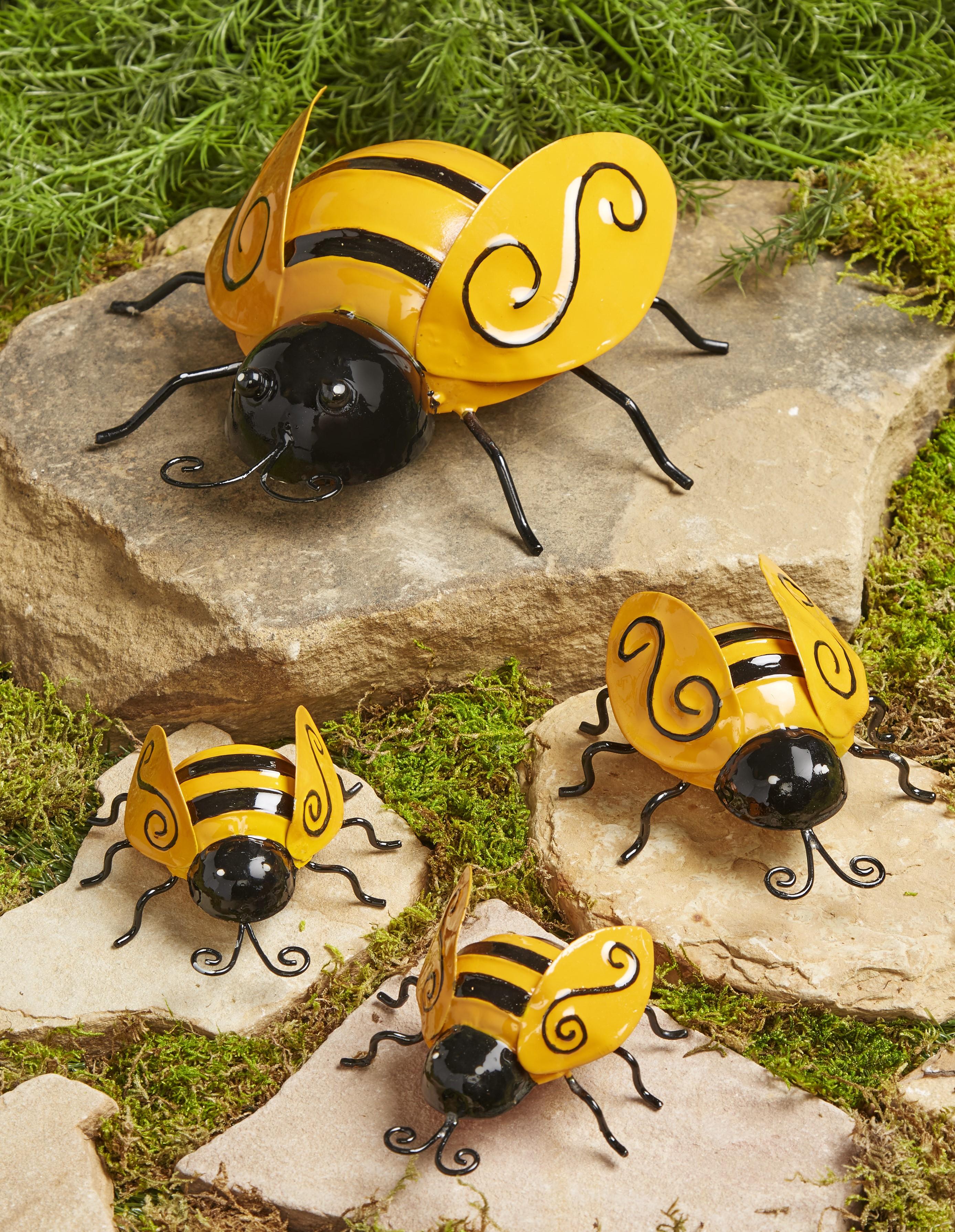 Large Wall Art Metal Decorative BUMBLE BEE Summer Garden Decoration Ornament 3