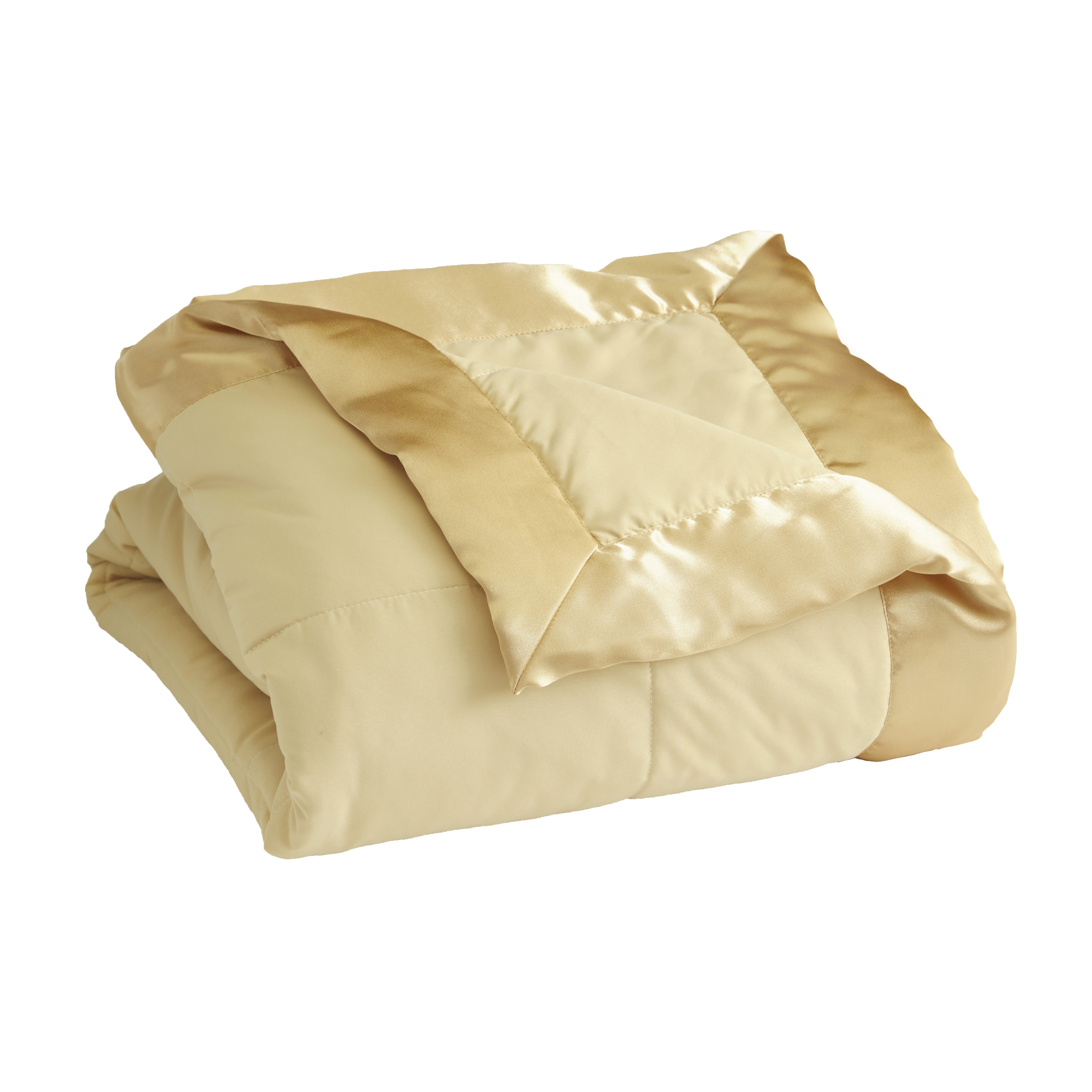 Down-Alternative Bed Blanket With Satin Binding Edges