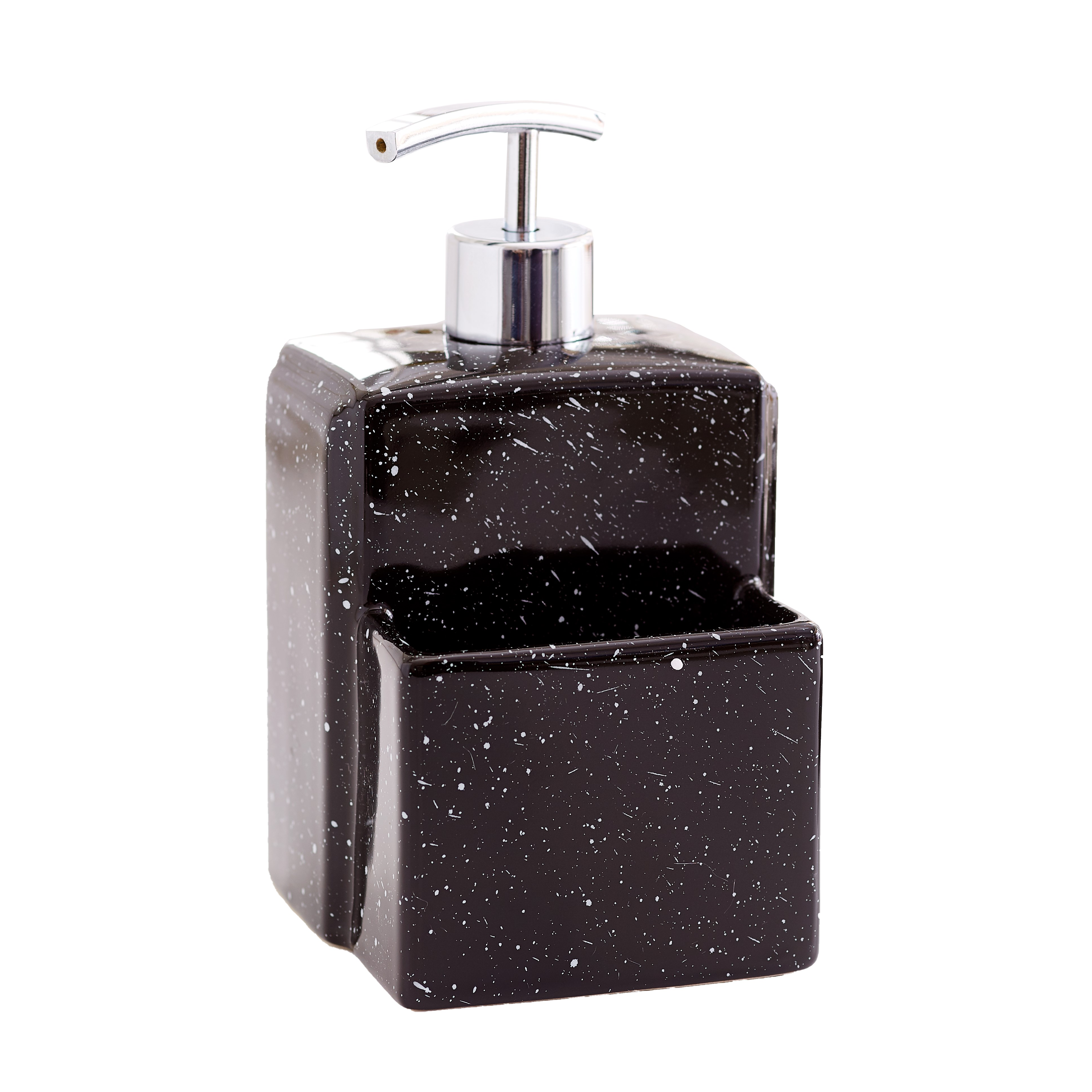 Details about Soap Dispenser with Sponge Holder - Kitchen Sink Caddy  Accessory
