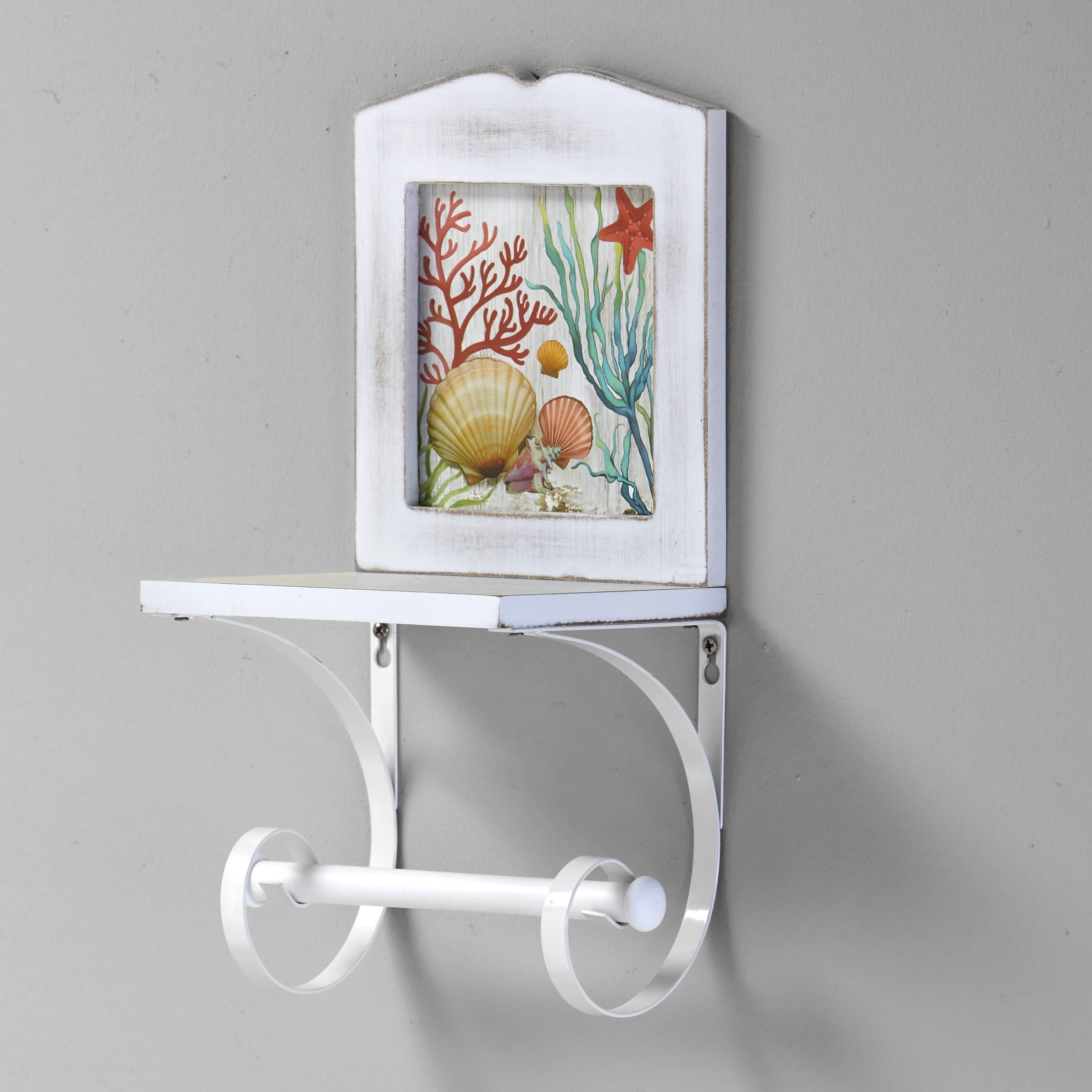 Coastal Toilet Roll Holder For Wall Unique Nautical Toilet Paper Storage Ebay
