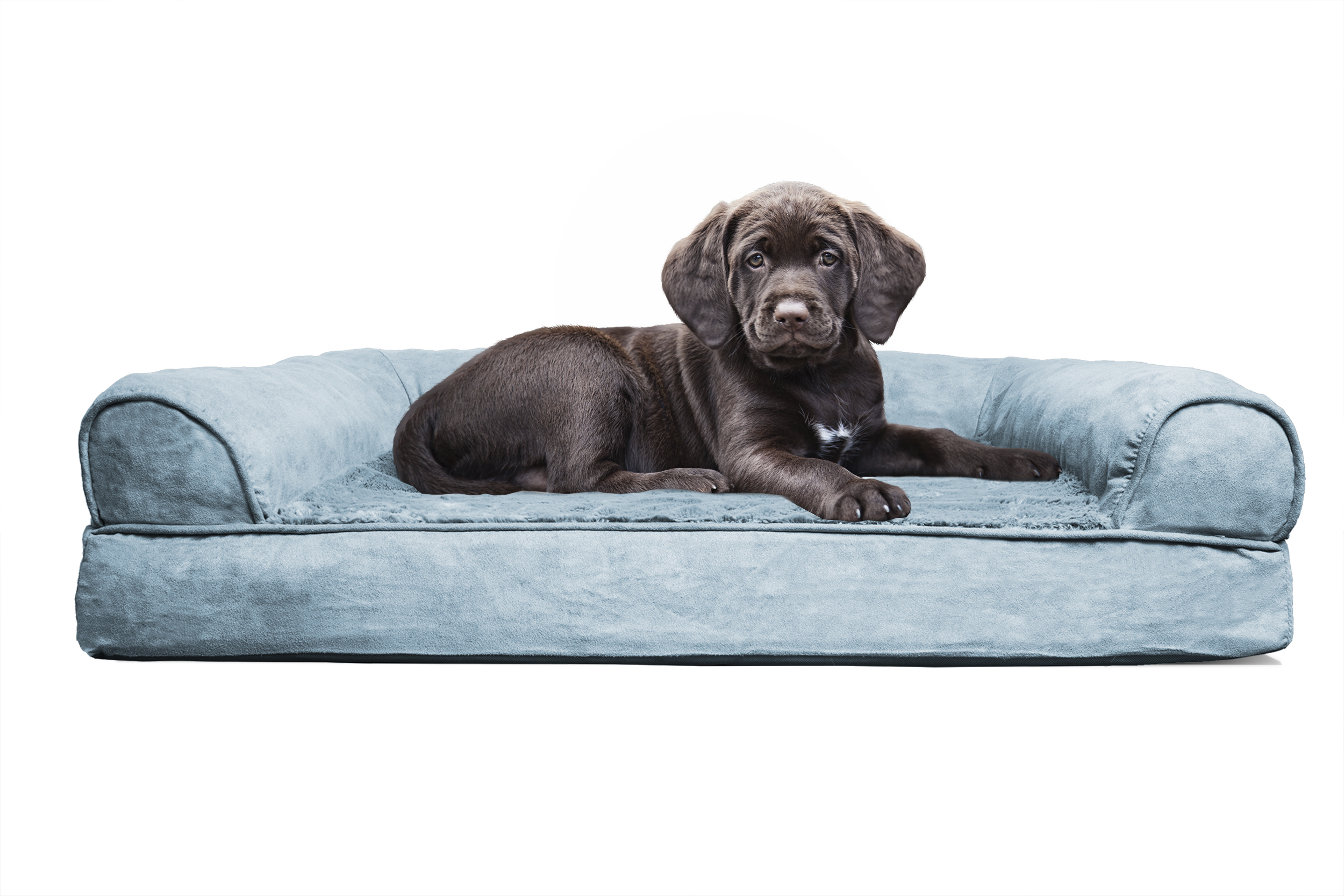 FurHaven Plush & Suede Orthopedic Sofa Pet Bed for Dogs and
