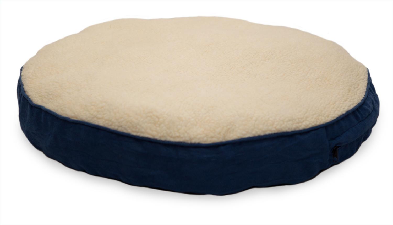 Furhaven Faux Sheepskin Suede Round Deluxe Pillow Pet