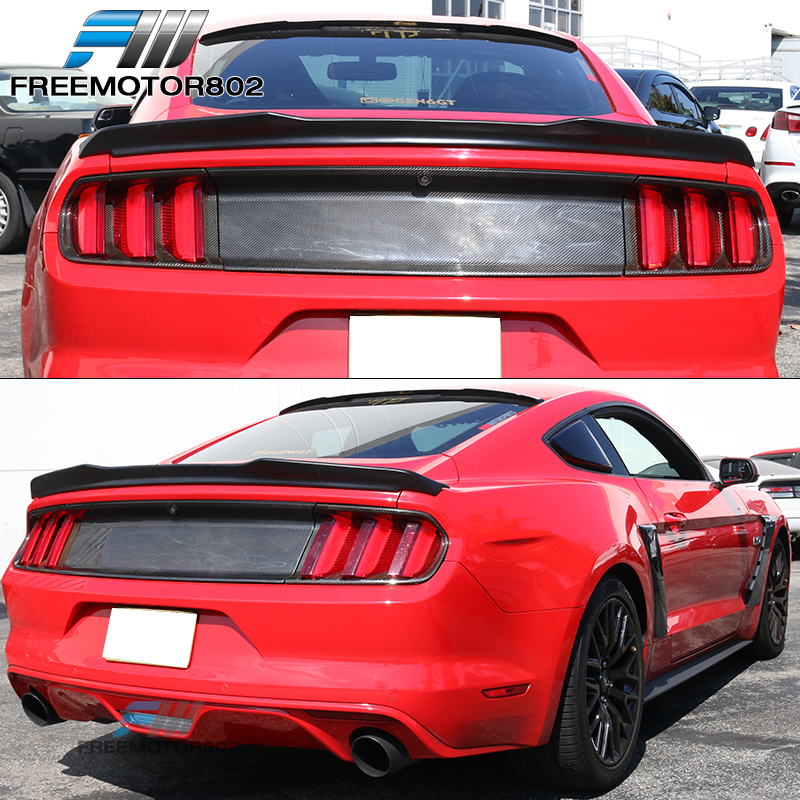 ABS Fits 15-20 Ford Mustang Coupe H Style High Kick Trunk Spoiler Wing