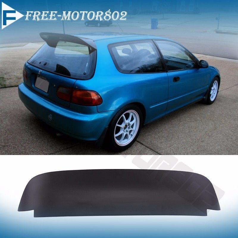 For 92-95 Honda Civic 3DR EG EH Spoon Duckbill Style Rear Roof Spoiler Wing 848524071331 | eBay