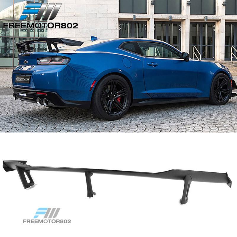 Black Real Carbon Fiber Rear Spoiler Wing OE Style For 16-17 Chevrolet Camaro
