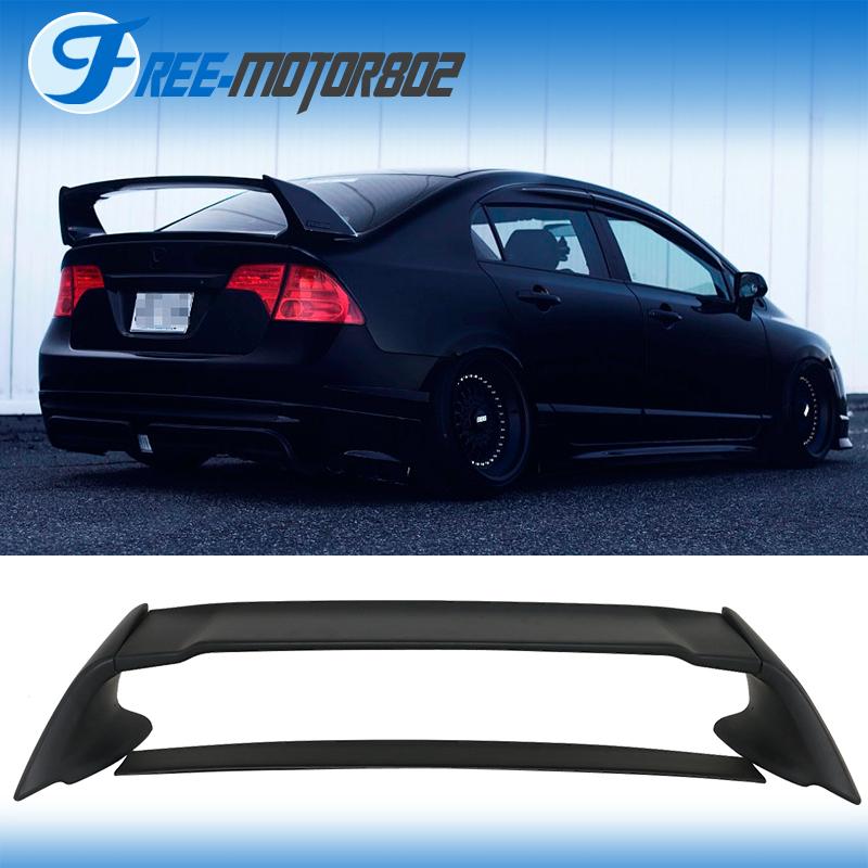 For 06 11 Honda Civic 4door Sedan Mugen Rear Trunk Spoiler
