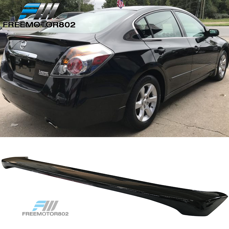 For Nissan Altima 2007 08 09 10 11 2012 MATTE BLACK Factory Style Spoiler Wing