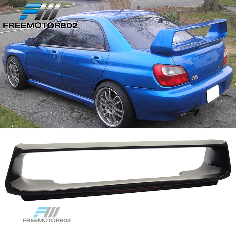fit for 02 07 subaru impreza wrx sti abs trunk spoiler wing with 3rd brake light ebay details fit for 02 07 subaru impreza wrx sti abs trunk spoiler wing with 3rd brake light
