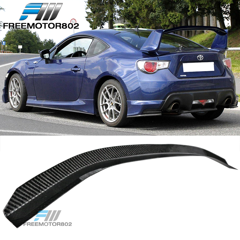 Gurney Flap Add-On Trunk Wing Lid CF Fits 13-17 BRZ GT86 Nur GTS Carbon Fiber