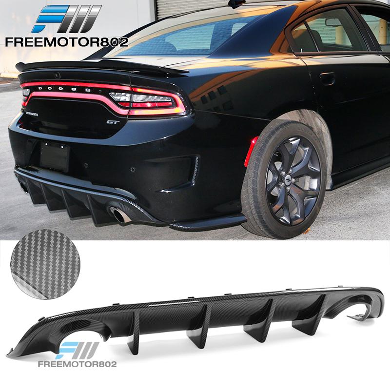 Unpainted Fits 15-19 Dodge Charger SRT Front Bumper Lip Ikon Style PP