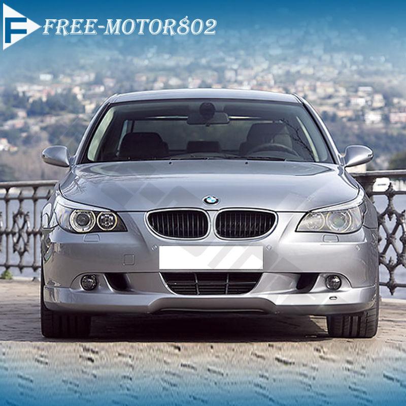 Fit 04-07 BMW E60 5-Series 525i 530i Black PU Front Bumper Lip Spoiler Bodykit