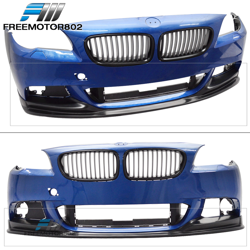 PU Fits 11-16 BMW F10 5 Series 3D Style M-Tech M Sport Only Front Bumper Lip