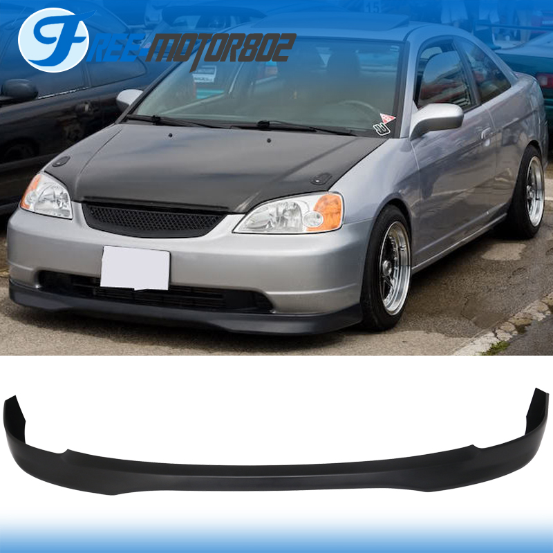 FOR 01 03 HONDA CIVIC 2 4 DR T R FRONT BUMPER LIP SPOILER BODYKIT PP