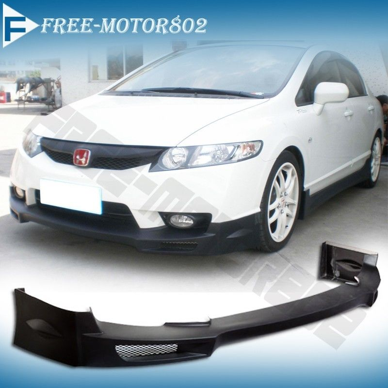 Fit 09 10 11 Honda Civic Mugen 4dr Front Bumper Lip