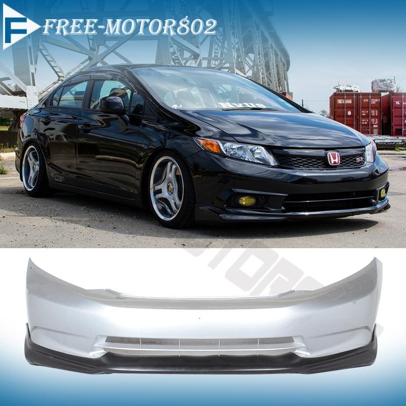 For 2012 civic sedan usdm model modulo front bumper lip for 2012 honda accord oil type