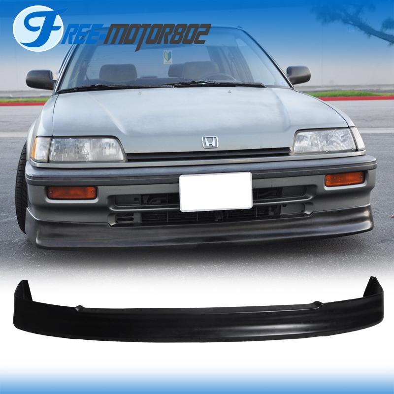 Fit 88 91 Honda Civic Front Bumper Lip Spoiler Urethane EF Sedan 3D HB CS