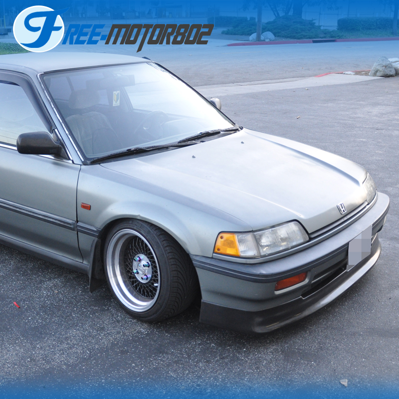 88 Civic: Fit 88-91 Honda Civic Front Bumper Lip Spoiler Urethane EF