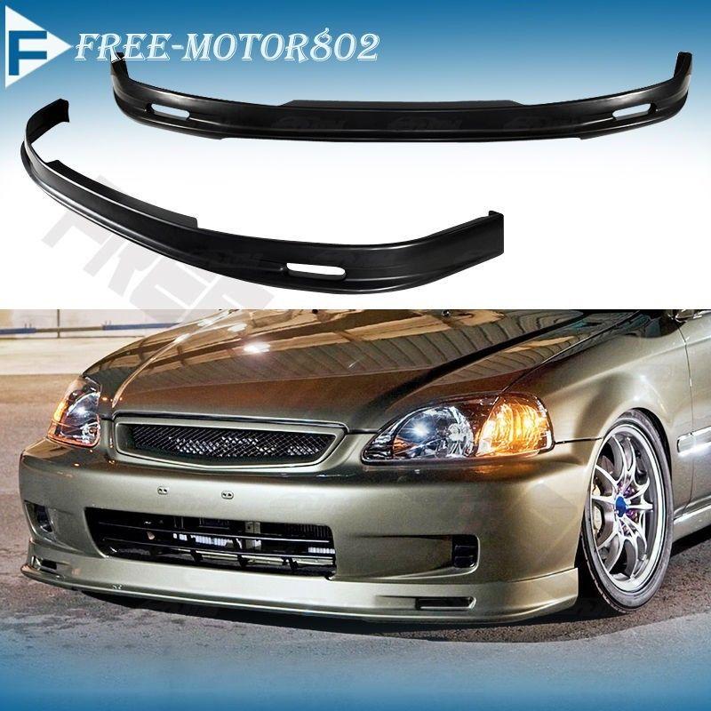 Front Bumper Lip Spoiler Wing Bodykit Pp Fit Honda Civic