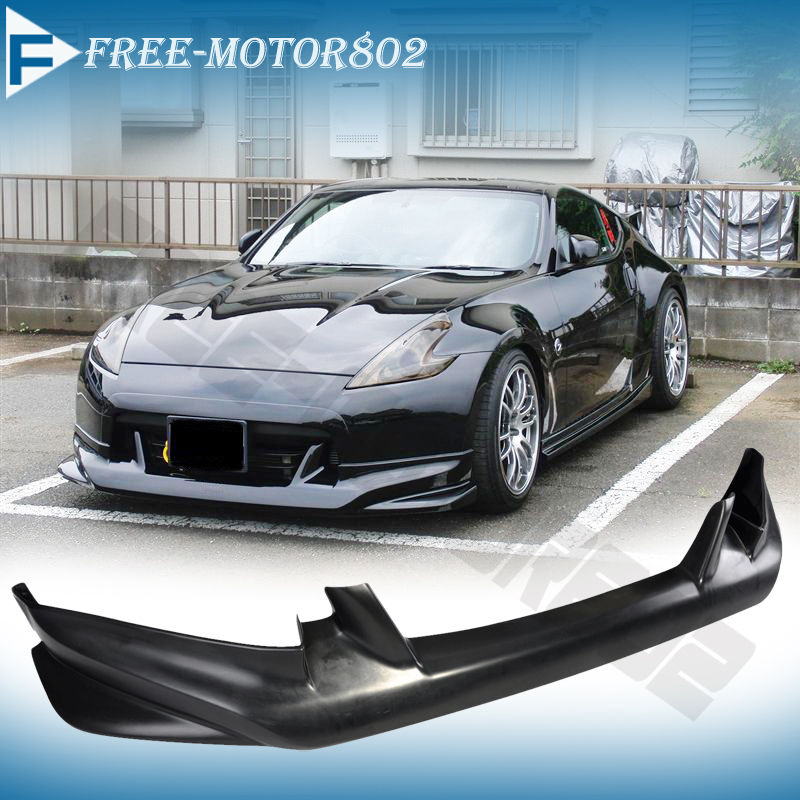 fit for 09 12 nissan 370z front bumper lip spoiler bodykit. Black Bedroom Furniture Sets. Home Design Ideas