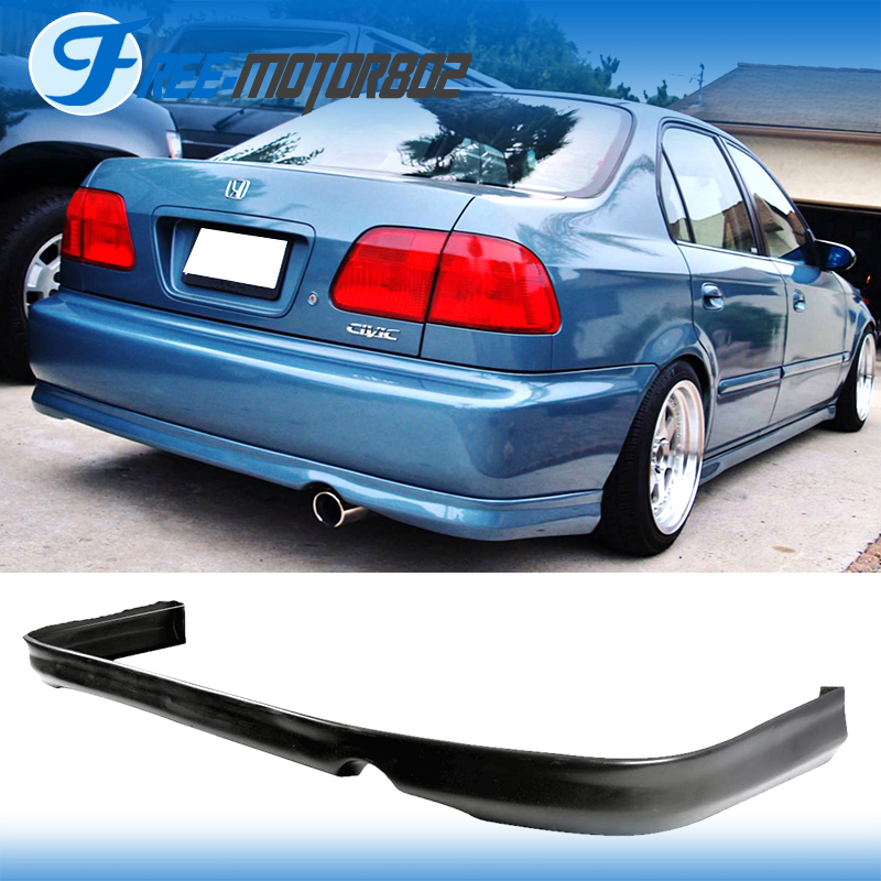 For 96 97 98 honda civic 2dr 4dr urethane rear bumper lip for Motor oil for honda civic 1998