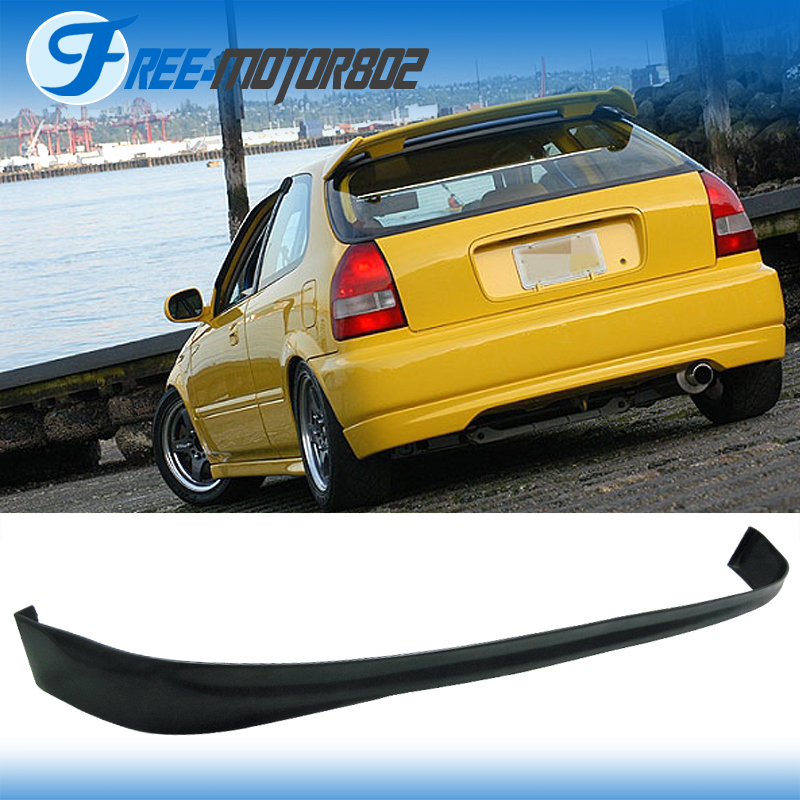 Civic Hatch: Fit 96-00 Honda Civic Hatchback 3Door Rear Bumper Lip