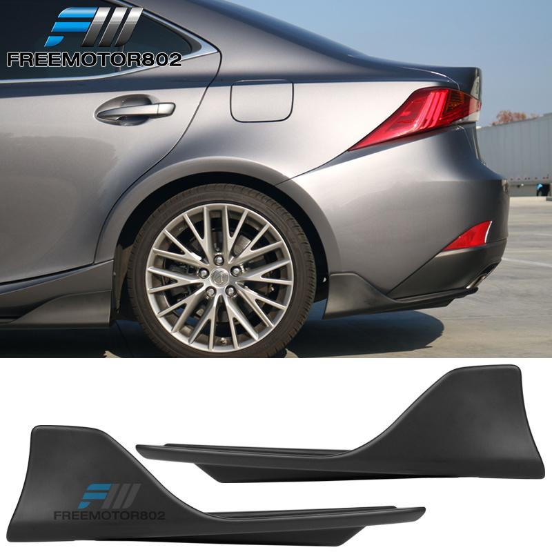Rear Bumper Diffuser Lip Spoiler For Lexus IS F IS250 IS350 IS300 Sedan 13-17 PU