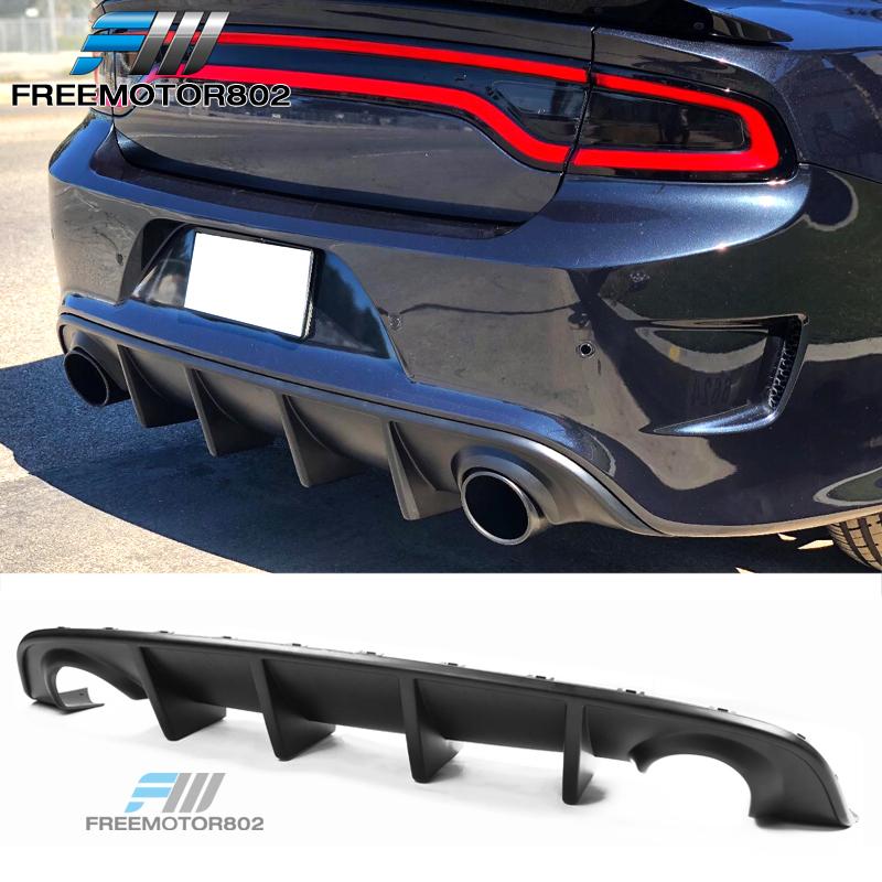 Gloss Black PP Spoiler 2017-2018 R//T 392 /& SRT,2019 GT R//T Scat Pack /& SRT 2020 GT /& Scat Pack Rear Bumper Diffuser Free-Motor802 Compatible With 2015-2016 Dodge Charger SRT