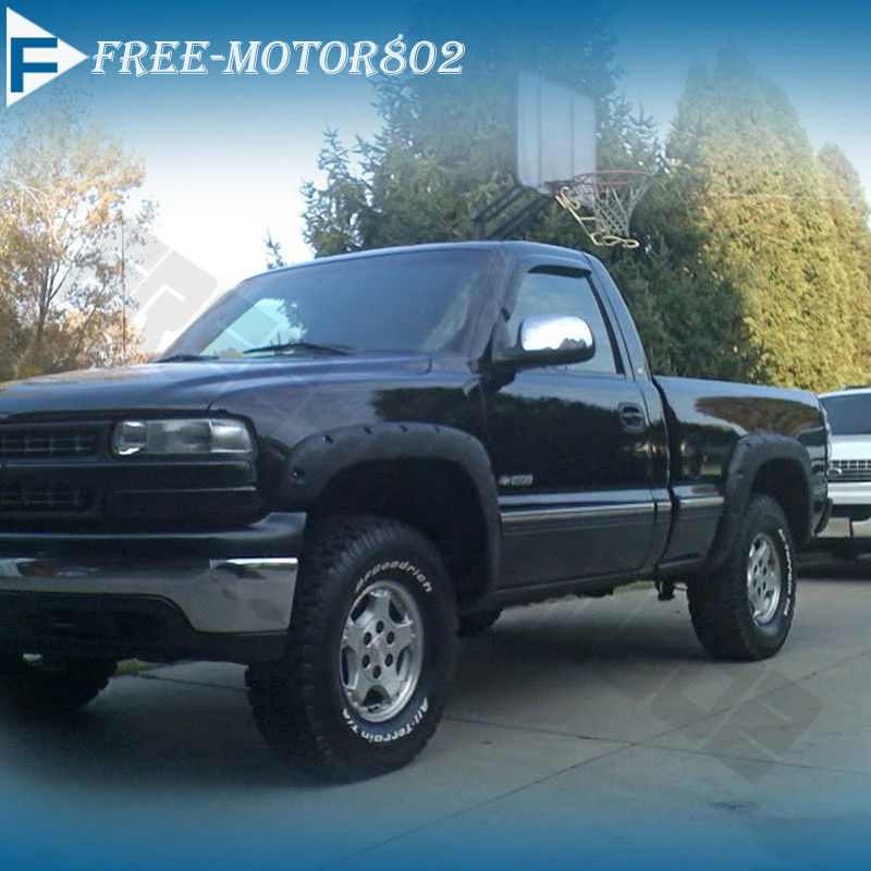 Pocket Style Fender Flares Offroad 4X4 Fits 99 07 Chevy Silverado 1500 2500 3500