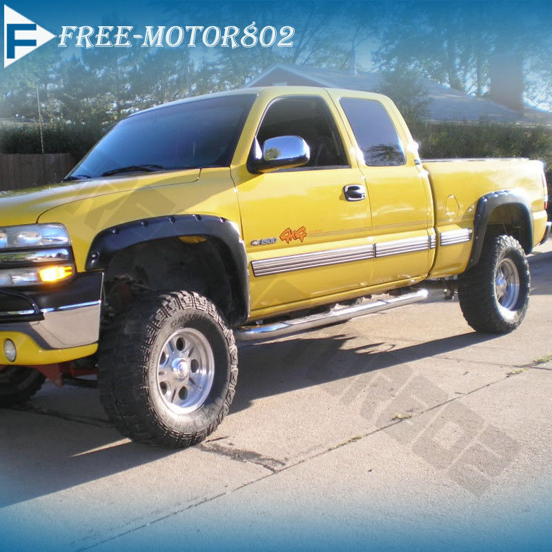 pocket style fender flares offroad 4x4 fits 99 07 chevy silverado 99 Silverado Custom pocket style fender flares offroad 4x4 fits 99 07 chevy silverado 1500 2500 3500 842961117485 ebay