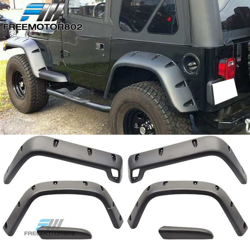 97-06 Jeep Wrangler TJ 6 PC Replacement Stock Fender Flare Kit With Hardware