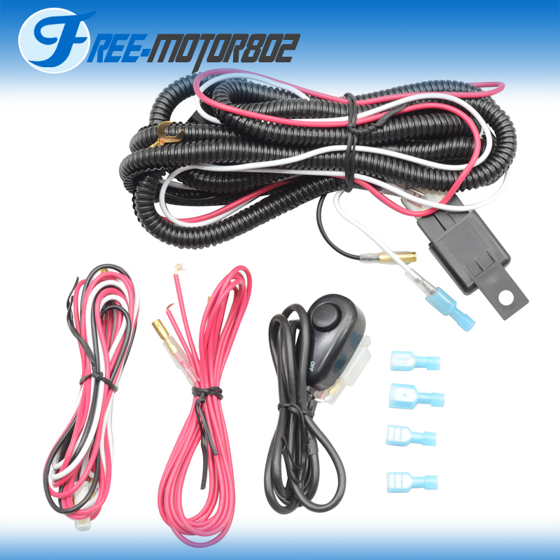 lhf s_8 universal led light bar fog light wiring harness kit 40a 12v  at fashall.co