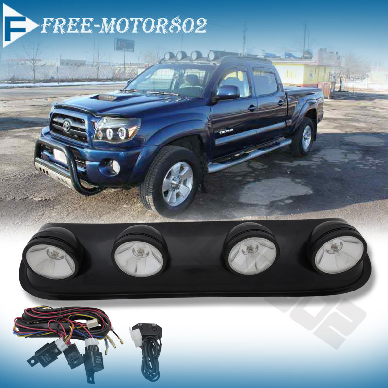 Round Roof Top Fog Driving Light Bar For Suv Truck Jeep
