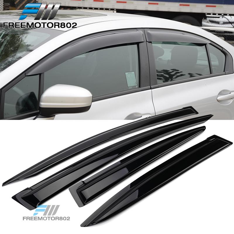 For 12-15 Honda Civic Mug Style Window Visors 4Pc Set