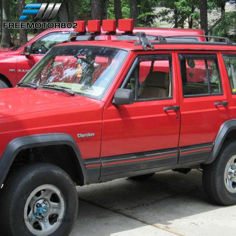 For 84 01 jeep cherokee 4door vent window shade visors rain guard for 84 01 jeep cherokee 4door vent window shade visors rain guard sciox Gallery