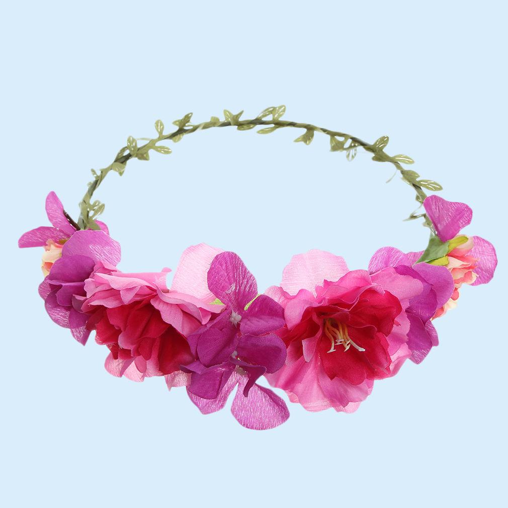 Flower Garland: Cute Handmade Flower Garland Floral Crown Headband Hair