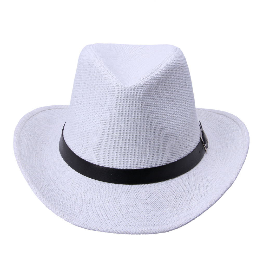 Straw Cowboy Wide Brim Mens Ladies Gangster Fedora Trilby ...