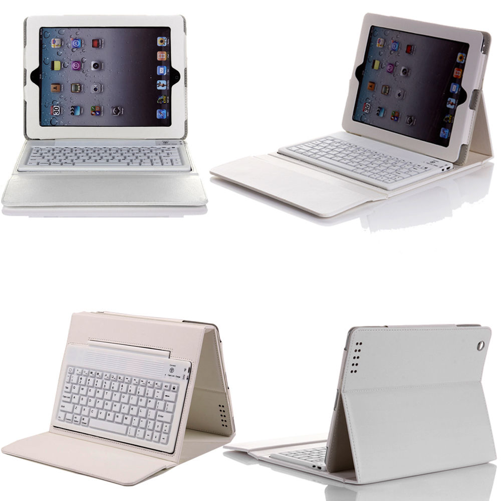 wireless bluetooth keyboard case leather cover for apple new ipad 2 3rd 4th gen ebay. Black Bedroom Furniture Sets. Home Design Ideas