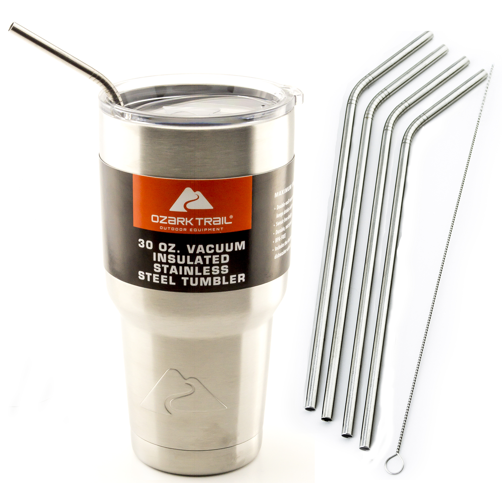 9428feb0bc9 Details about 4 Bend LONG 30 oz Stainless Steel Straws fits Ozark Trail  Ounce Double-Wall