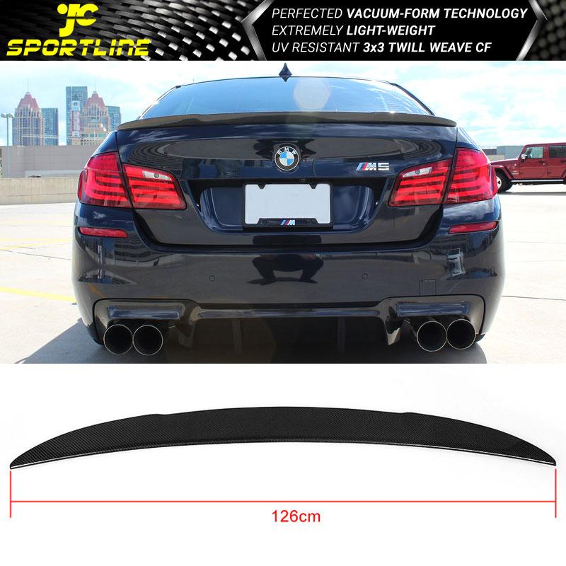 Fits-11-16-BMW-5-Series-F10-amp-M5-AK-Style-Trunk-Spoiler-Carbon-Fiber-CF