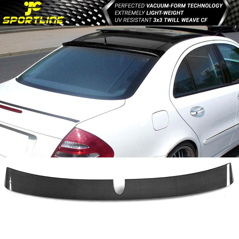 A Type Trunk Spoiler Carbon Fiber Mercedes Benz W211 L Type Roof Spoiler